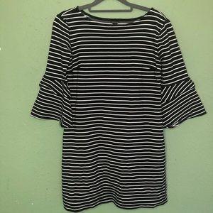 NWOT Ann Taylor Striped 3/4 Length Sleeve Dress 2